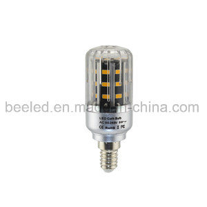LED Corn Light E14 5W Warm White Silver Color Body LED Bulb Lamp
