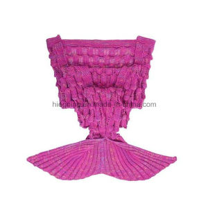 New Popular 100% Acrylic Handmade Knitted Mermaid Tail Blanket for Adult pictures & photos