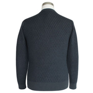 Bn1616 Men′s Yak and Wool Blended Luxury V Neck Knitted Pullover pictures & photos