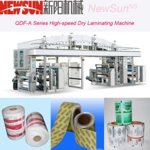 Qdf-a Series High-Speed OPP Film Dry Lamination Machinery pictures & photos