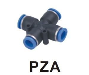 Pza Union Cross Plastic Pipe One Touch Tube Fitting pictures & photos
