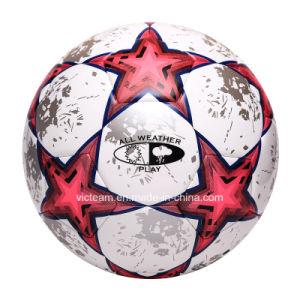 Custom Logo Size 5 Thermo Bonding Leather Football pictures & photos