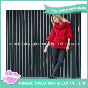 Wool Wholesale Hand Knitted Fashion Model Sweater for Ladies pictures & photos