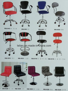 Swivel PU Bar Chair Bar Stool with Armrest for Sale pictures & photos
