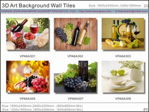 Beautiful Printing 3D Beautiful Background Wall Glazed Tiles (VPA6A306) pictures & photos