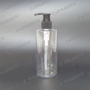 300ml Plastic Clear Pet Bottle with Lotion Pump for Cosmetic Packaging (PPC-PB-064) pictures & photos
