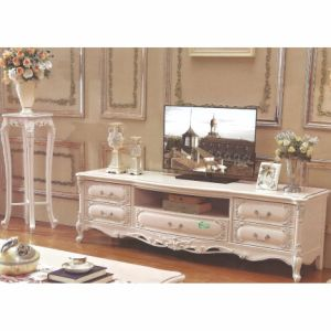 Wooden TV Stand with Side Wine Cabinet for Home Furniture pictures & photos