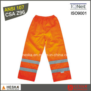 High Visibility Custom Waterproof Pants 100% Polyester Warm Pants Winter Trousers pictures & photos