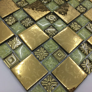 30X30 Cheap Price Mixcolor Polished Crystal Glass Mosaic Tile pictures & photos