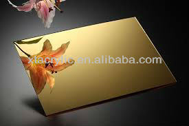 High Reflective Gold Acrylic Mirror Sheet, Acrylic Sheet pictures & photos