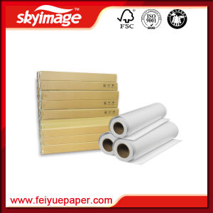 China Manufacture 105GSM 432mm*17inch High Ink-Carrying Capacity Roll Sublimation Heat Transfer Paper pictures & photos