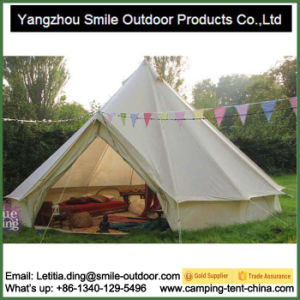 Fireproof Germany Customized Printing 6 Person Bell Tipi Tent pictures & photos