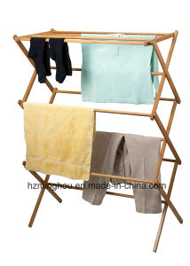 Woodworks Houseware Extra Large Bamboo Clothes Drying Wooden Display Rack pictures & photos