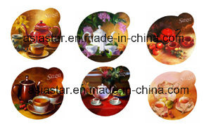 Russian Dolls Shape 4color Printed Cork Coaster pictures & photos