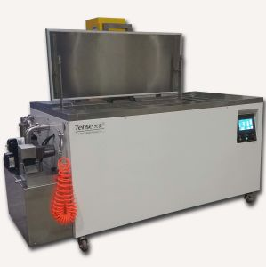 Tense Ultrasonic Cleaning Machine with PLC Control/Heating/Air Gun pictures & photos