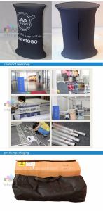 Dye-sublimation Stretch Fabric Acrylic Shelf Aluminum Round Pipe Counter Display pictures & photos