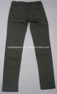 7.2oz Green Long Pants for Women (HY2582-02QA) pictures & photos