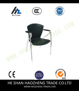 Hzpc041 Capacity Black Ergonomic Shell Stack Chair with Black Frame pictures & photos