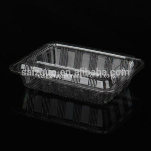 Simple Rectangular Disposable Plastic Sushi Cake Snack Container pictures & photos