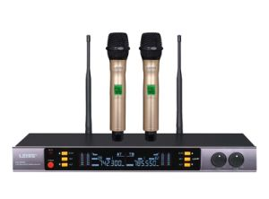 Ls-993 Dual Channel Wireless Microphone System UHF Wireless Microphone pictures & photos
