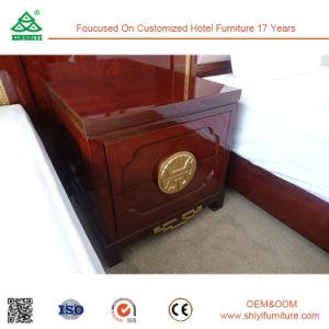 Luxury Brwon Beech Wood Nightstand for Bedroom pictures & photos