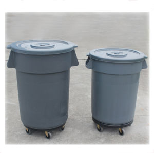 Wholesale Household Plastic Dustbin / Bulk Plastic Trash Can/Plastic Garbage Bin pictures & photos