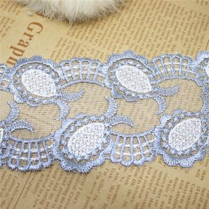 Factory Stock Wholesale 6.5cm Width Embroidery Nylon Net Lace Polyester Embroidery Trimming Fancy Mesh Lace for Garments Accessory & Home Textiles & Curtains pictures & photos