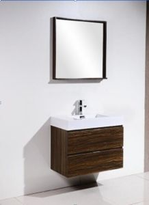 Hot Sale Melamine Bathroom Cabinet (with resin basin) pictures & photos