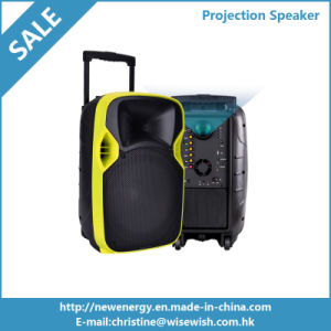100W Powered Portable Trolley Active Karaoke DJ DLP Projection Speaker pictures & photos