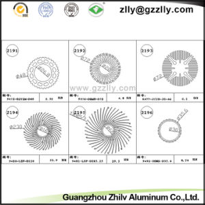 Guangzhou Circle Tube Aluminum Profile Extrusion Heatsink pictures & photos