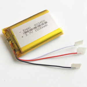 3.7V 1500mAh 803450 Lithium Polymer Battery Lipo Rechargeable Battery Li Ion Cell pictures & photos