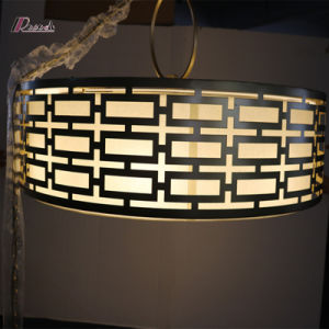 Decorative Metal Pendant Lamp with Linen Shade pictures & photos