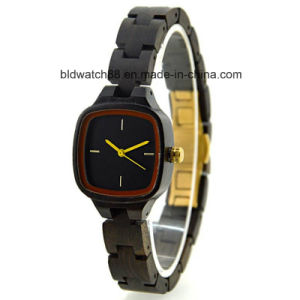 Small Wrist Wood Square Women′s Wooden Watch with Japan Movement pictures & photos