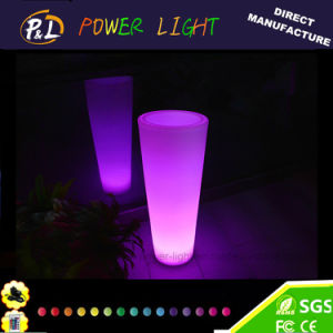 Garden Furniture Colorful Plastic Waterproof Plastic LED Pot pictures & photos