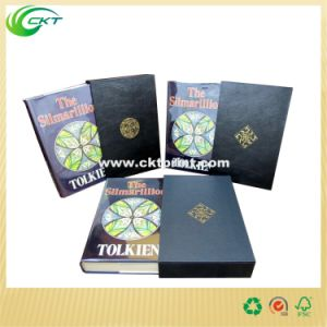 Gold Emboss Leather Bound Book Printing (CKT-BK-535)