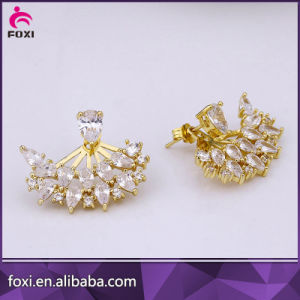 Fancy Design Latest Artificial Earrings Gold Jewelry for Women pictures & photos