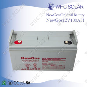 Newgos 12V 100ah Solar Battery Deep Cycle Lead Acid Battery pictures & photos