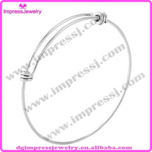 Wholesale 60mm Adult Size Steel Jewelry DIY Charm Bangle Adjustable Expandable Wire Bangle Bracelets (IJD0456) pictures & photos