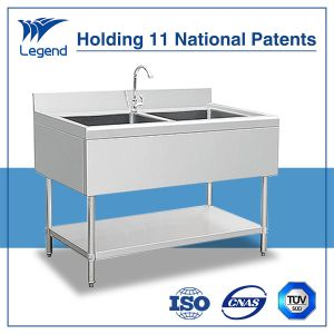 European Style Stainless Steel Double Sink with Apron Front pictures & photos