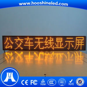 Long Lifespan P10 SMD3528 Yellow Color Taxi LED Display pictures & photos