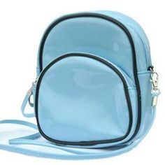 Women Small Shoulder Bag Patent Leather Candy Color Cross Body Bag Blue Backpack (BDMC038) pictures & photos