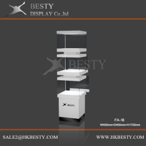 Elegant Jewelry Tower Display Case with LED Light pictures & photos