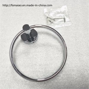 Brass Round Chrome Bathroom Accessories Towel Ring (2430) pictures & photos