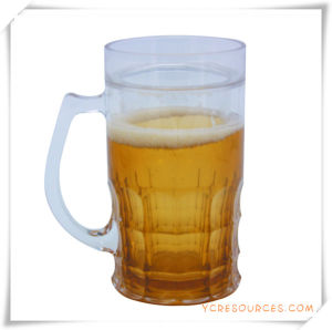 Double Wall Frosty Mug Frozen Ice Beer Mug for Promotional Gifts (HA09077-2) pictures & photos