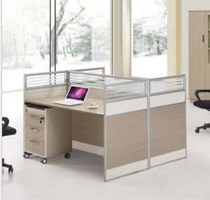 2 Seats Straight Desk Workstation Cluster Staff Office Partition (HX-NCD283) pictures & photos