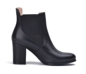 2017 Casual Lady High Heels Shoes Women Leather Chelsea Boots pictures & photos