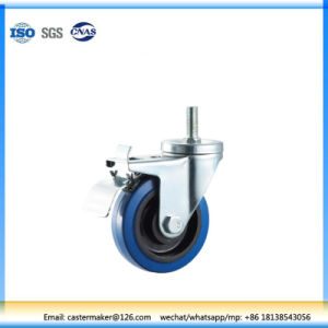 Institutional Ball Bearing Rubber Caster with Brake pictures & photos