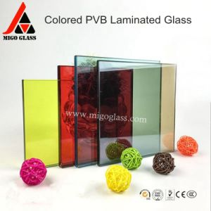 China 4+4 5+5 6+6 Colored PVB Film Laminated Glass pictures & photos