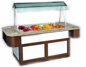 Made in China Customized Mini Buffet Showcase Salad Bar pictures & photos
