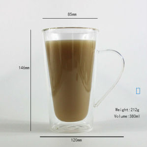 Double Walll Glass Cup Coffee/ Tea/Wine Borosilicate Hand Made Mouthblown pictures & photos